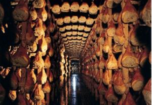 Stagionatura Prosciutto di Parma