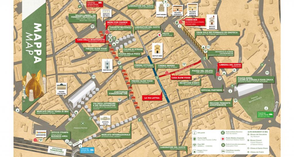 Mappa Cheese 2017 Città di Bra